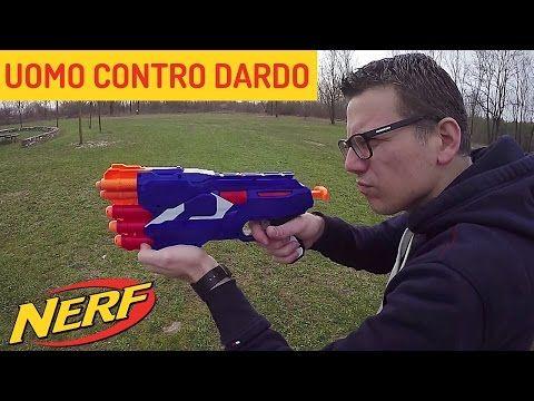 NERF Dual Strike + SFIDA UOMO CONTRO DARDO #NERF