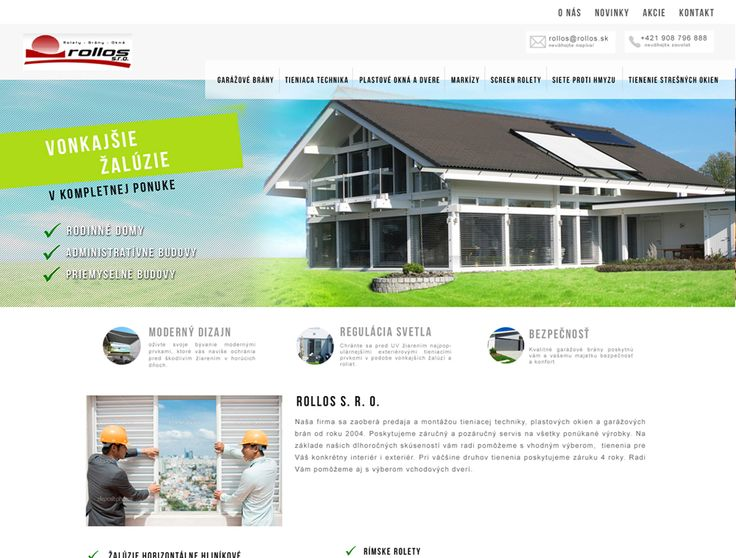 Tvorba web stránky Rollos.sk