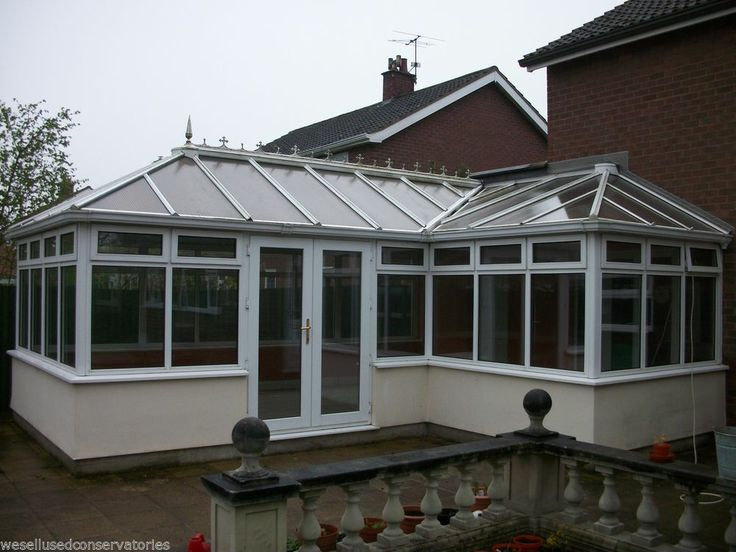 Used Pvcu Large White Upvc Conservatory 6420 mm x 5620 mm