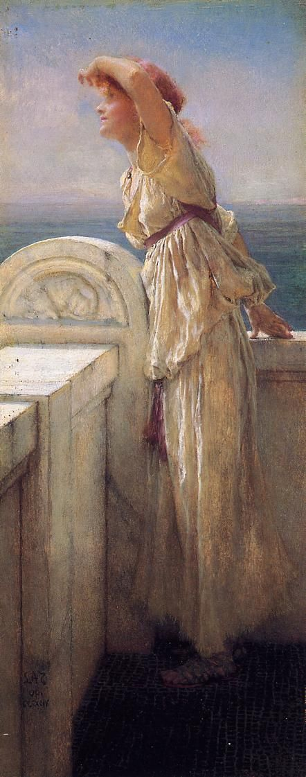 The Athenaeum - Hopeful (Sir Lawrence Alma-Tadema - 1909)