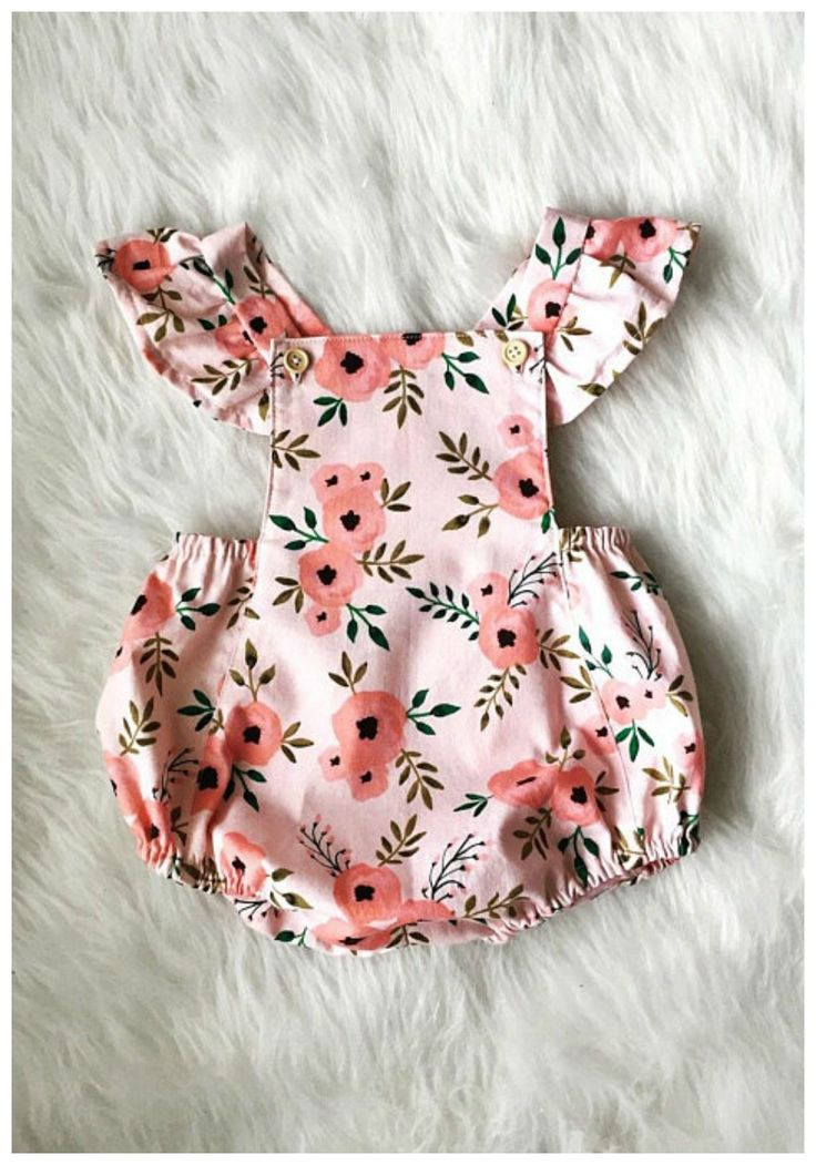 gorgeous floral bubble romper for toddlers in spring. #toddler #affiliate
