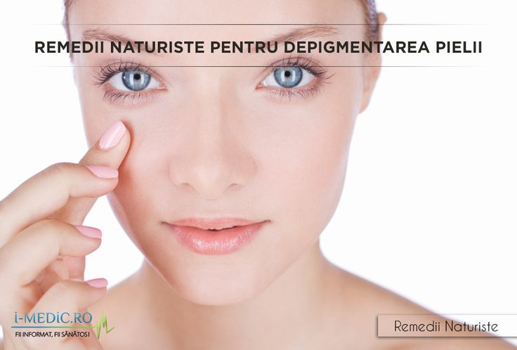 Pigmentarea pielii se manifesta prin aparitia unor pete negre sau maro in zonele afectate. http://www.i-medic.ro/remedii/remedii-naturiste-pentru-depigmentarea-pielii