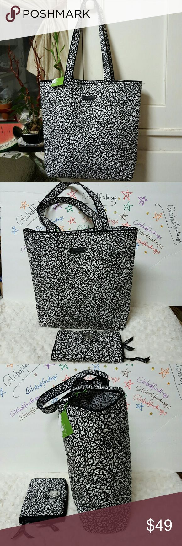 """2-Vera Bradley Camocat Tote & Turn Lock Wallet SALE ***Vera Bradley Camocat Tote and Turn Lock Wallet New, never been used. The wallet is with card slots , bill compartments Snap magnetic closure..Pls. Check photos for details. Tote measures L14"""" x W15"""". Vera Bradley Bags Totes"""