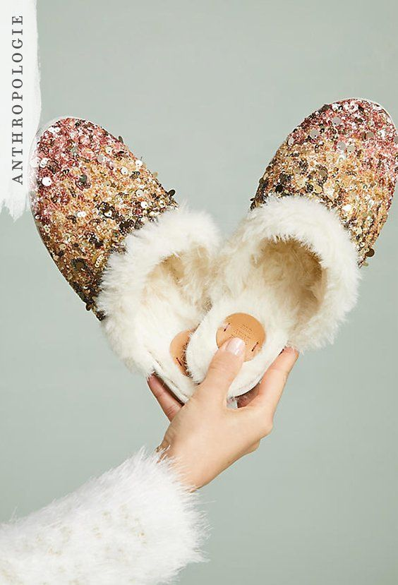 Ombre Sequin Slide Slippers | Shop Anthropologie holiday gifts