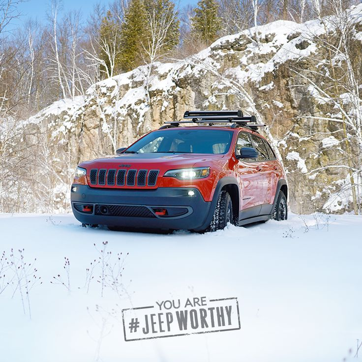 When you prefer to take the long way, even on a snow day, you are #JeepWorthy  Enter for your chance to win a dynamically redesigned 2019 Jeep Cherokee.  No purchase necessary. One grand prize ($45,000 max.) Contest ends April 2, 2018. Rules and regulations in profile.