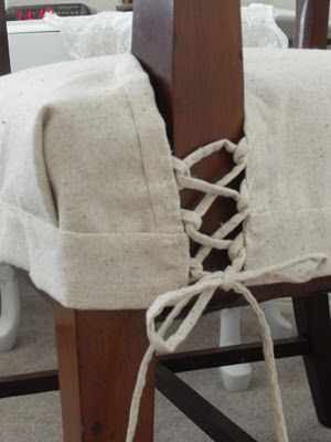 Lingerie Inspired Slipcovers: Beautiful Details