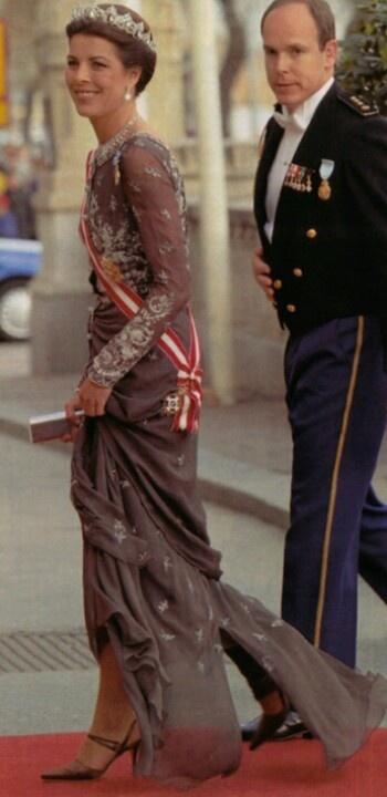 Princess Caroline of Monaco and her brother Prince Albert II