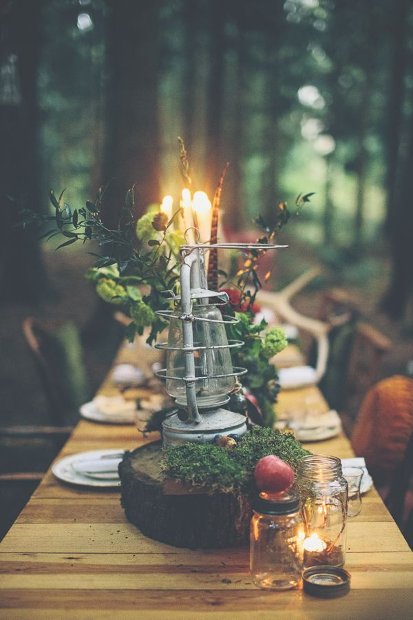 Woodland Wonderland Wedding Ideas Lantern Candle http://www.jessicawitheyphotography.squarespace.com/