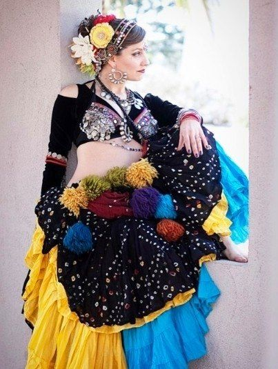 Bellydance (Looks like American Tribal Style costume stuff.)