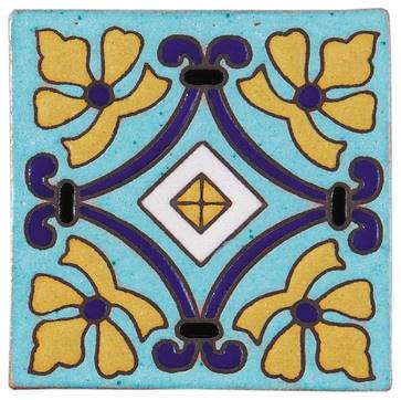 Cuerda Seca mediterranean floor tiles
