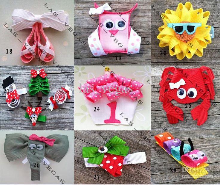 Wholesale baby animals hair clips girls hair clip children hair bow kid grosgrain ribbon bows, Free shipping, $1.03/Piece | DHgate Mobile