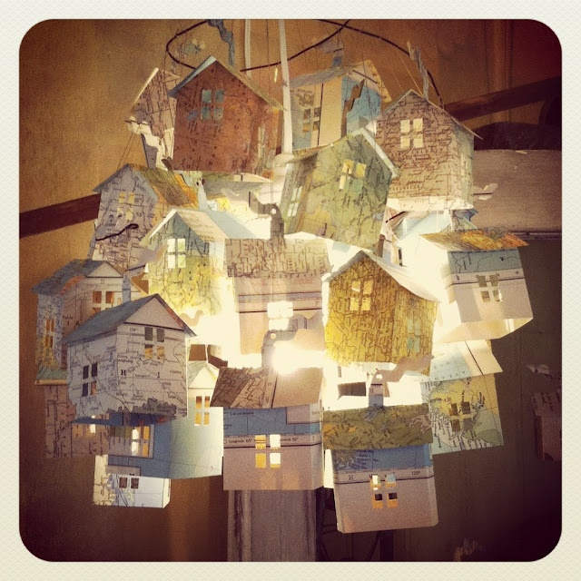 Little Map Houses chandelier - hutch studio