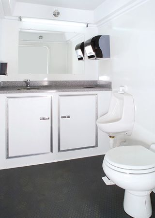 Your guests will feel refreshed every time they enter one of the luxury toilets from Luxury Porta-Party.