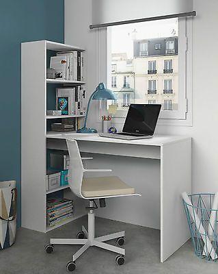 Modern White Corner Computer Study Desk Office Table Furniture