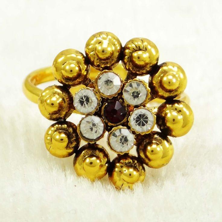 Gold tone CZ Ring..