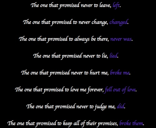 Promise Day Images With Quotes For Friends : Friendship hurt quotes promises people leaving love