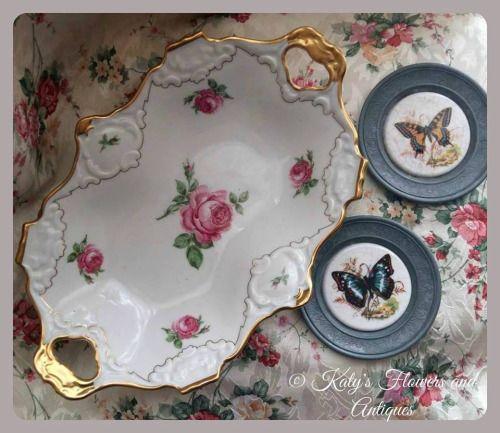 Porcelain platter, shabby chic style,1958 - 1960 - AL-KA Kunst Alboth & Kaiser (K.G.), Bavaria, Germany