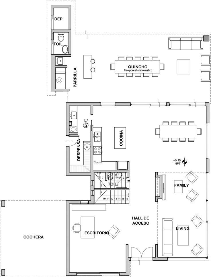 34 best planos plans images on pinterest blueprints for homes estudio nf y asociados casa mabel malvernweather Choice Image