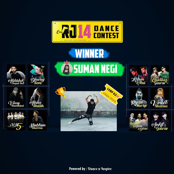 Time to declare the winner of #RJ14DanceContest! And the crown goes to Suman Negi  Winning Video: http://dni.dance/RJ14DanceContest  Congratulations Suman for winning a free pass to the @camprj14.