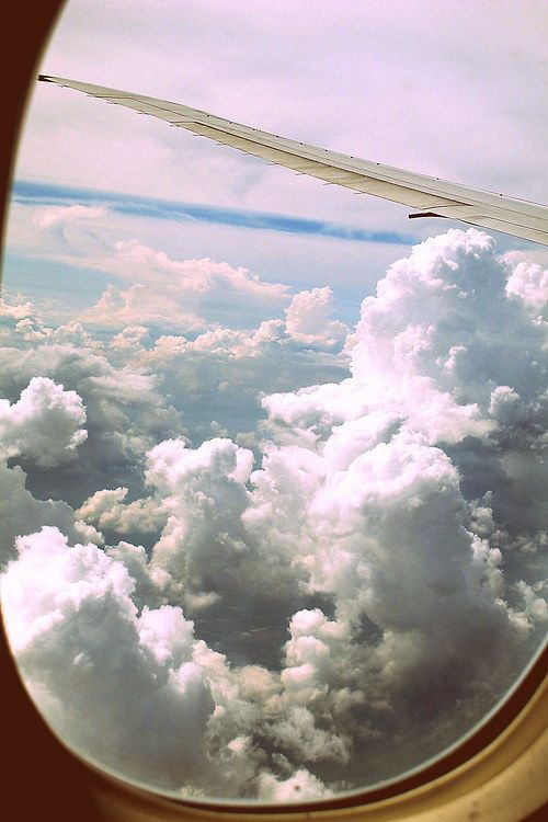 traveling by an aeroplane.. sitting quiet.... when nothing else to do....a deep silence inside that makes you fall a sleep...but distracting yor mind and trying to stay awake...because you can not miss this kind of a view...and thinking about positive things..with a soft music...