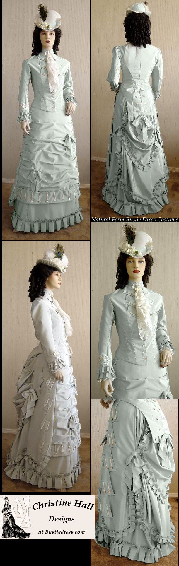 MADE CUSTOM Hall Christine by Costume Dress Bustle Form Natural Victorian 1877 SASS