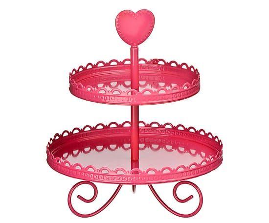 Этажерка для кексов - эмаль - розовый, 33 см