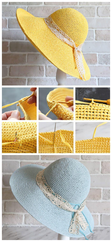 Crochet Raffia Beach Hat Pattern   Crochet Kingdom   Crochet hat ...