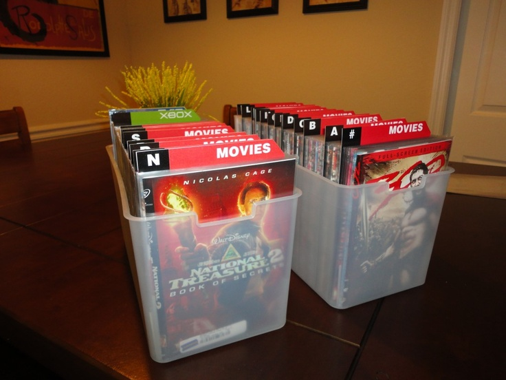 DVD Storage. Organize Your Huge DVD Collection Into An Easier And Smaller  System. Cd StorageStorage IdeasGame ...