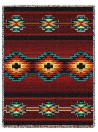 Southwest Indian Western Essme Red Tapestry Throw Afghan Blanket or Pillow   eBay