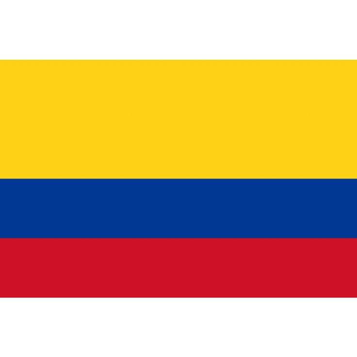 tafelvlaggen Colombia 10x15cm   Colombiaanse tafelvlag