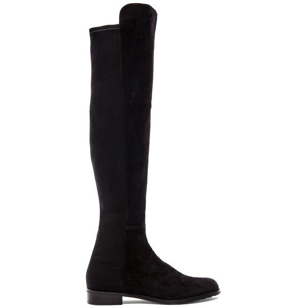 Stuart Weitzman 5050 Stretch Boot (427.785 CLP) ❤ liked on Polyvore featuring shoes, boots, black, over-the-knee boots, thigh high boots, black thigh high boots, black low heel boots, stuart weitzman boots and stretch over the knee boots