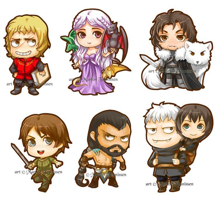 Game of Thrones Chibi's by bluemonika.deviantart.com on @deviantART