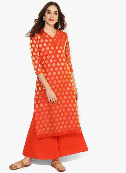 Kurta With Palazzo V Neck 3/4Th Sleeves Brocade Kurta With Palazzo Party Wear Salwar Suit Set For WomenBuy now the Latest #palazzosalwarsuitsonline #palazzokameezdupattaonline #plazosalwarsuits #buydesigneranarkaliplazodressesonline only at Ladyindia.com https://ladyindia.com/collections/palazzo-suits