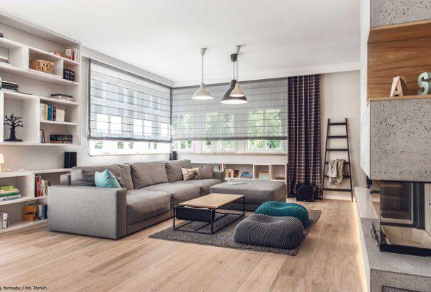 Rozmieszczanie mebli w salonie najlepiej zacząć od zaplanowania miejsca na kanapę
