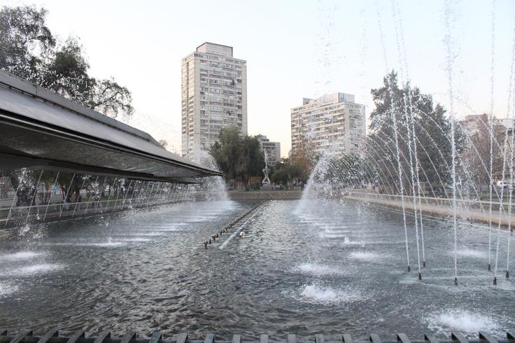 Plaza de la Aviación, Fuente Bicentenario. Providencia. Santiago. Chile
