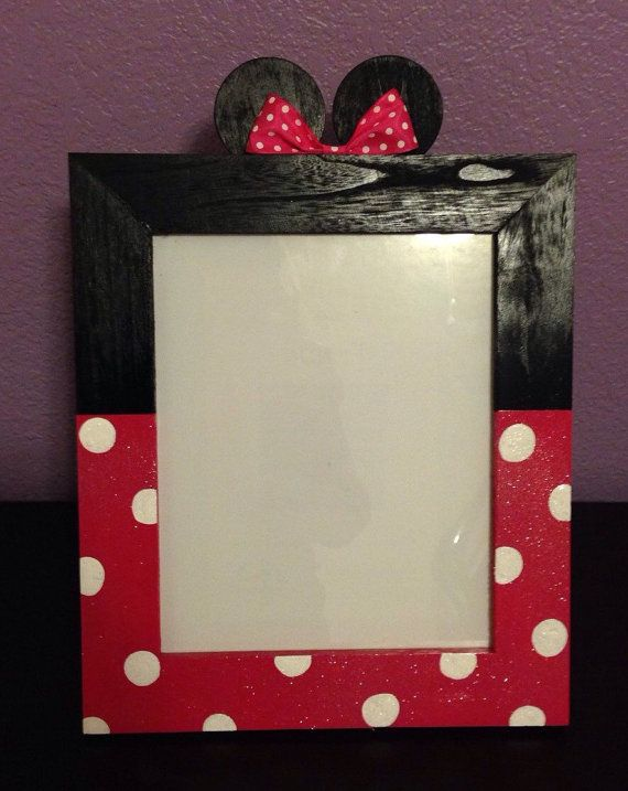 Minnie Mouse Picture Frame by ASTAcrafts on Etsy