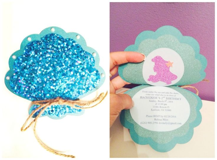 mackenzies 2nd birthday party under the sea mermaid birthday invitesluau - Little Mermaid Party Invitations