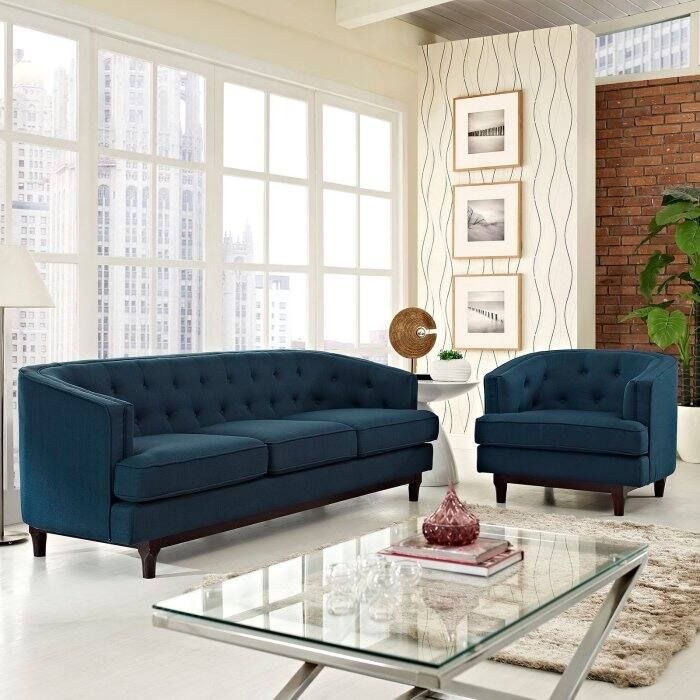 Modway Coast 2 Piece Living Room Sofa Set Living Room Sofa Living Room Sofa Set Living Room Sets