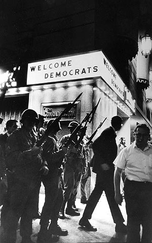 1968 Signs of the Times.  Democratic National Convention in Chicago with major confrontations between police and protestors led to rioting in the streets.