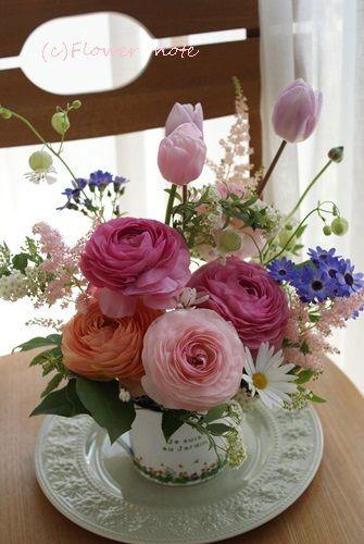 【今日の贈花】12歳の女の子とお花の奇跡 Flower note の 花日記 (横浜・上大岡 アレンジメント教室)