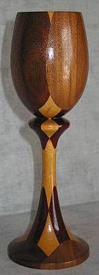 Woodturning wood goblets by Bob Pritchard