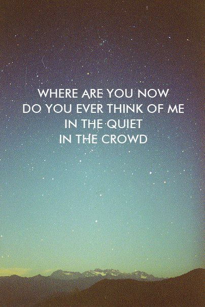 Where are you now-Mumford & Sons