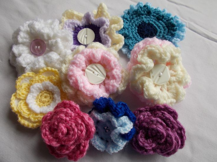 Flower brooches ... one for every outfit?