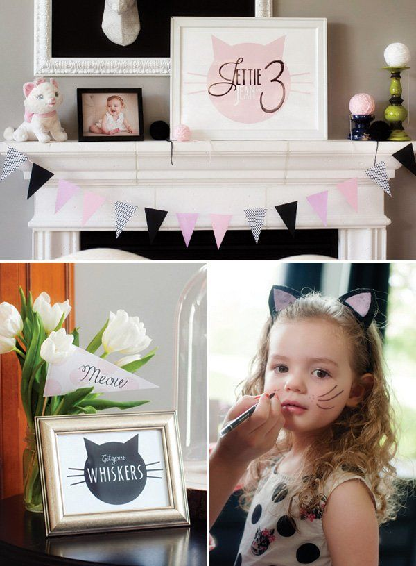 kitty cat birthday party face painting