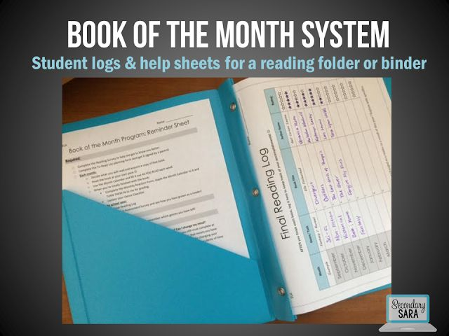 Blog post - take a peek at my Book of the Month independent reading program for…