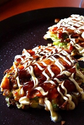Okonomiyaki. Heaven on a plate!