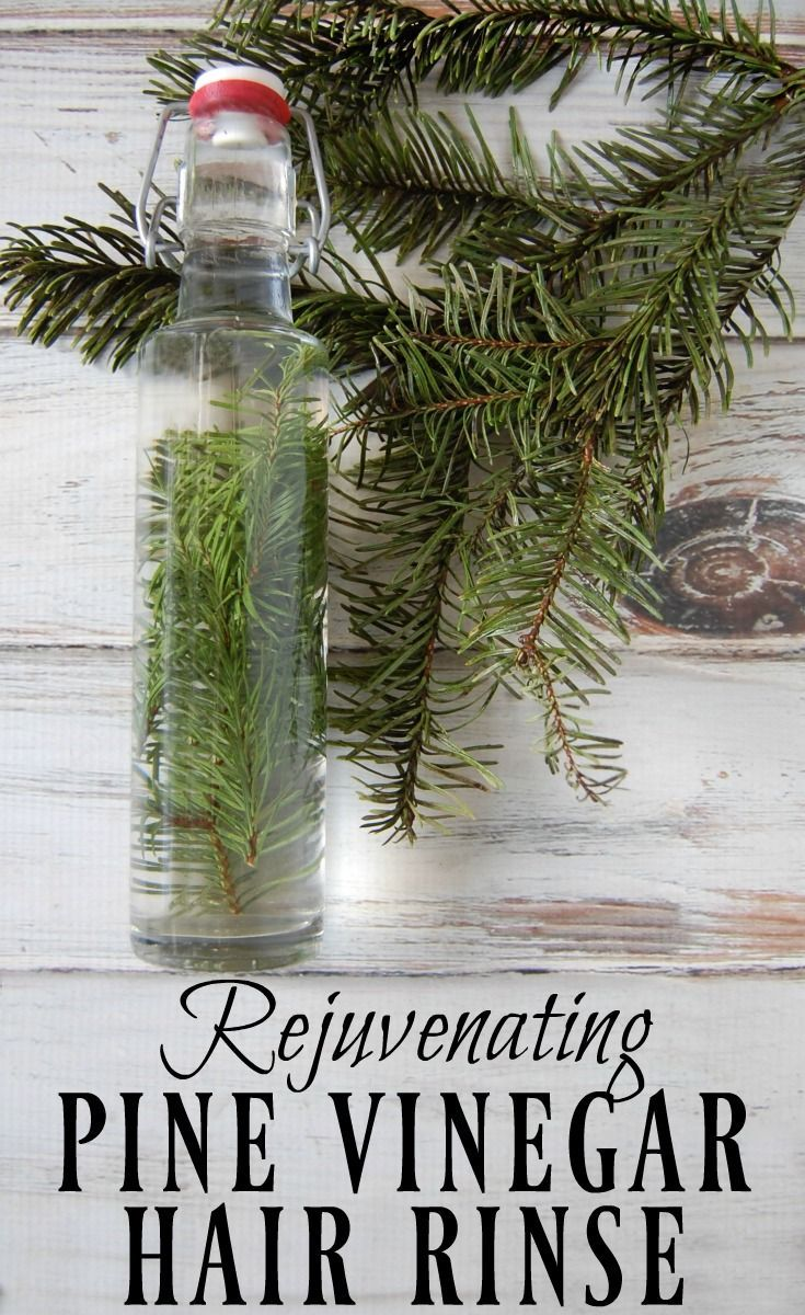 Start hunting down those pine needles! This rejuvenating pine vinegar hair rinse...