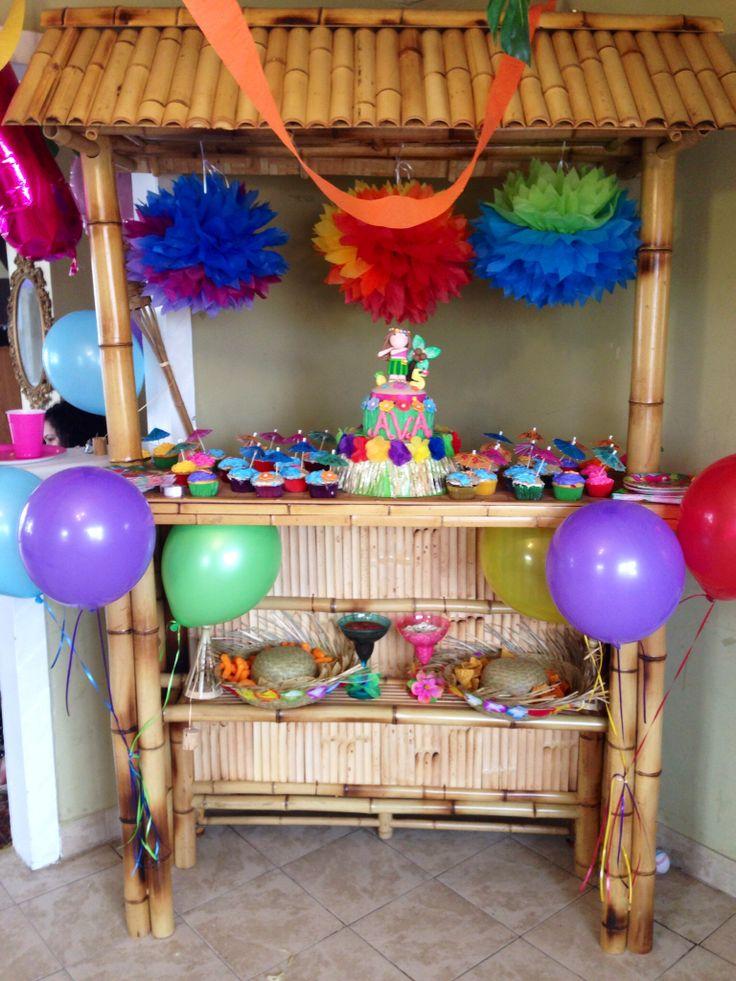 Tiki Bar Cake Table Luau Party Luau Party Cake Table