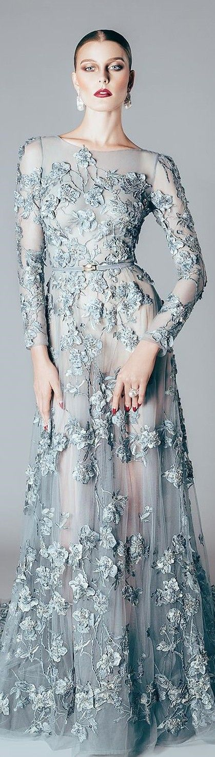 This is one of the most amazing shades of blue I've ever seen. Alfazairy FW 2015/16