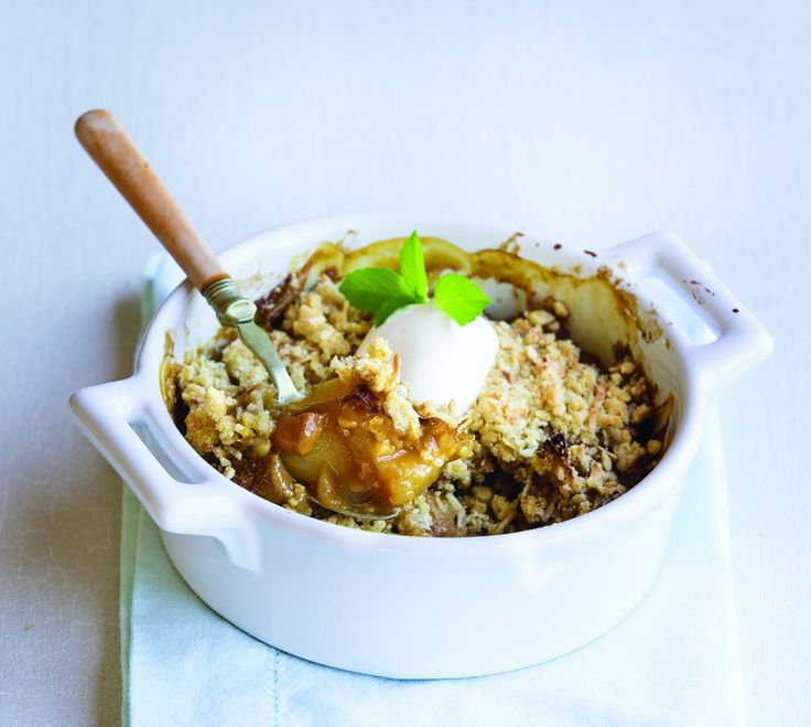 This feijoa and apple crumble is sure to put a smile on your face. Stew feijoas while they are in season so you can make this crumble all through winter.